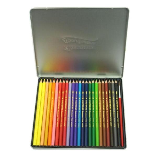 Bộ Bút Chì Màu Nước Renaissance Masterart Series 24 Màu (Hộp Thiếc)