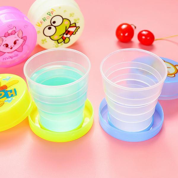 COMBO 5 Cốc, Ly Nhựa Gấp Gọn Thông Minh Hình Thú Đáng Yêu - TẶNG MUỖNG INOX
