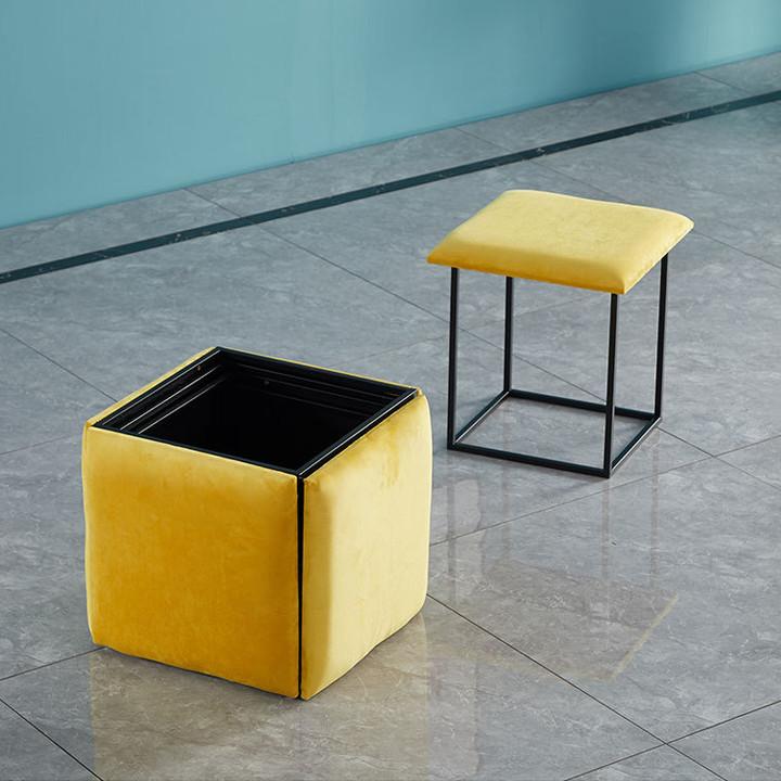 Ghế khối Rubik, đôn ghế sofa gấp gọn 5 Trong 1 có Bánh Xe Di Chuyển- ghế khối rubik phòng khách