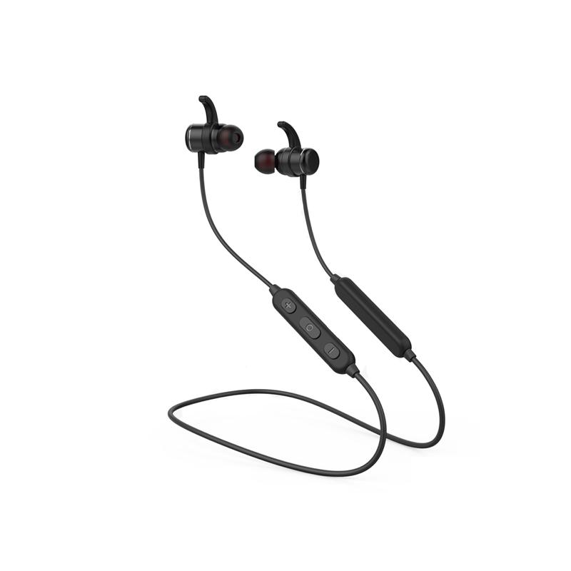 Tai nghe bluetooth thể thao Kisonli KX-1 Bass mạnh - thiết kế nam châm 2 đầu (đen) HÀNG CHÍNH HÃNG