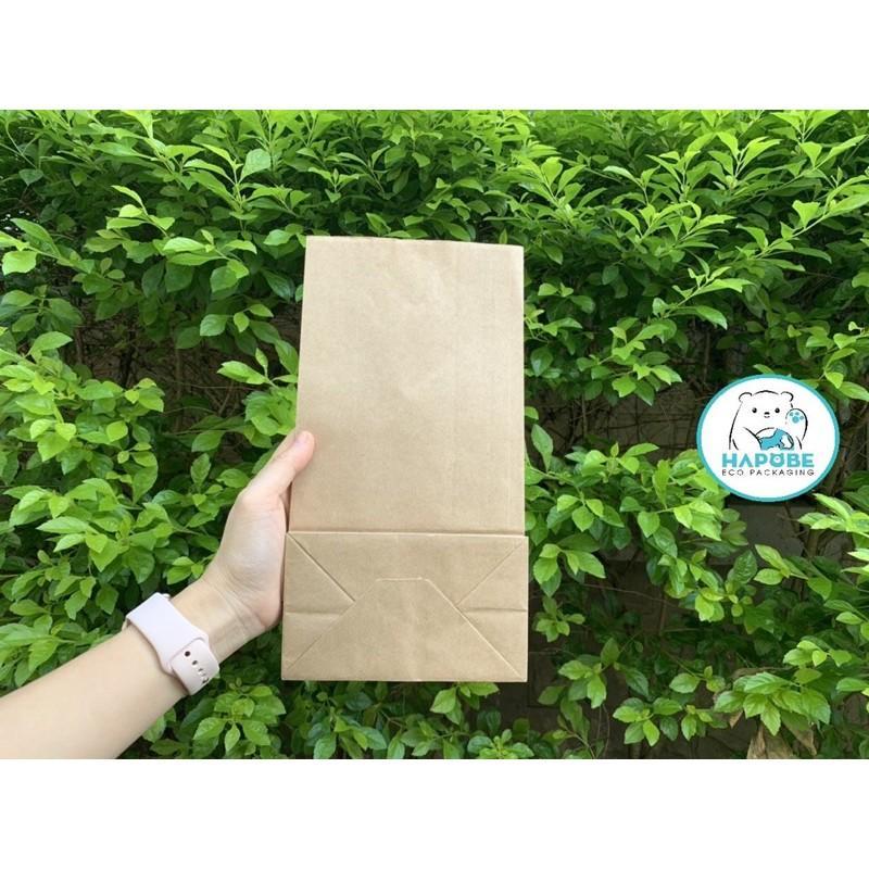 100 Túi giấy kraft nhật K2026 không quai đựng đồ ăn 15.5x9x29.5cm