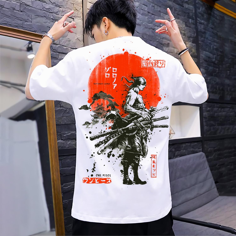 Áo thun One Piece Zoro T01 , áo phông One Piece Zoro Unisex Nam Nữ có Size bé từ 25-95kg