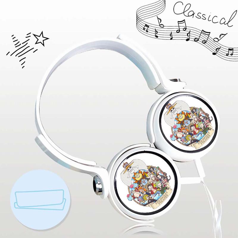 Tai nghe ONE PIECE ĐẢO HẢI TẶC cá tính cắm dây có mic anime chibi