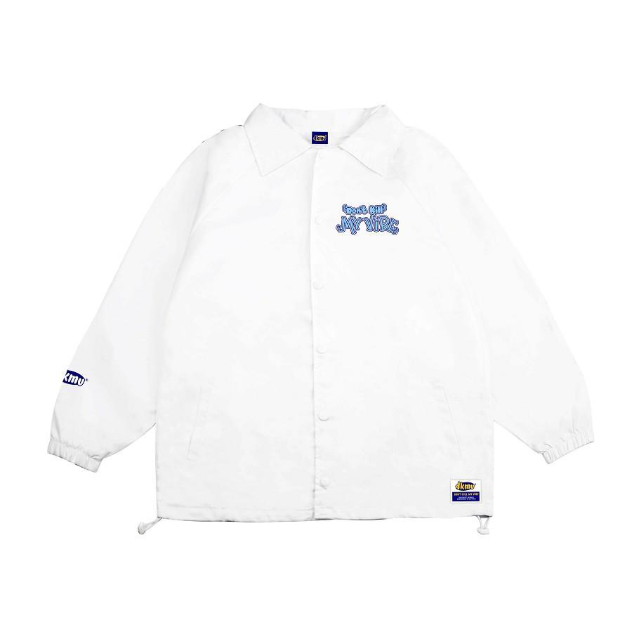 Áo khoác dù nữ màu trắng form rộng in hình   DKMV White Surfing Jacket