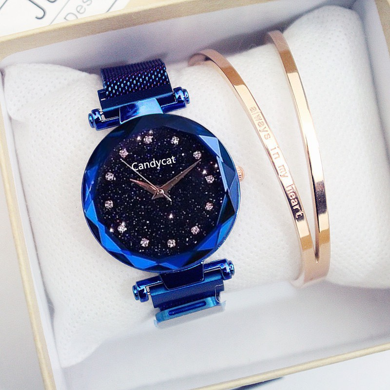 Đồng hồ dây nam châm thời trang đẹp dalota DH19