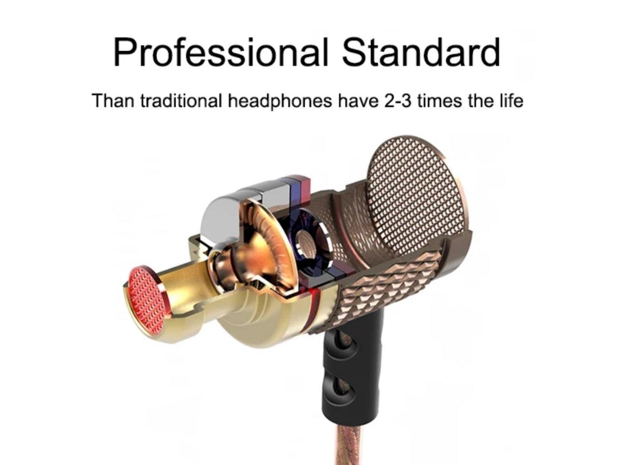 Tai nghe KZ EDR1 - Tai nghe kim loại âm Bass mạnh có Micro - Hàng chính hãng