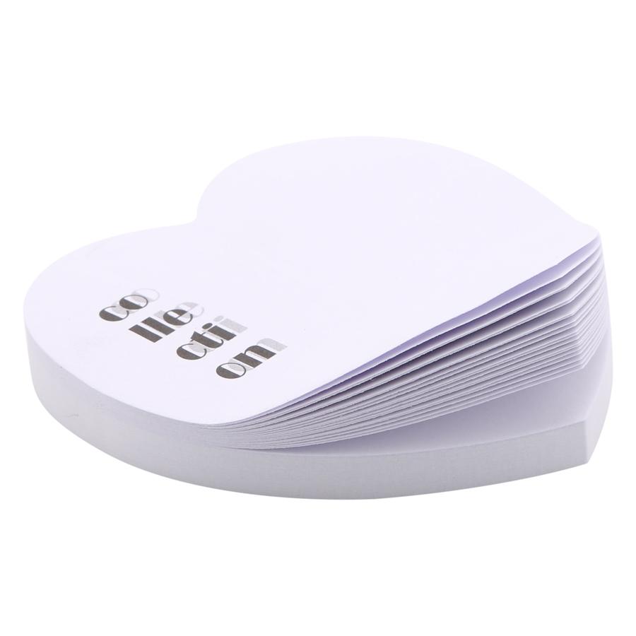 Giấy Note Tim - Kèm Bút Bubu BLTP-0051 - Hình Chữ Collection