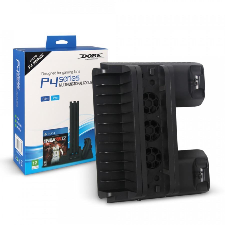 Đế Tản Nhiệt Kèm Khay Đựng Đĩa Game Cho Máy PS4 Pro & PS4 Slim– Hàng Nhập Khẩu