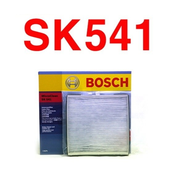 Lọc điều hòa Bosch SK541 cho xe KIA, Morning 1.1 i, (2004 - 2013)KIA, Morning 1.1i, (2004 - 2011) HYU, i10 1.2i 16V, (2008 - 2013)KIA, Picanto 1.2, (2011 - 2013)