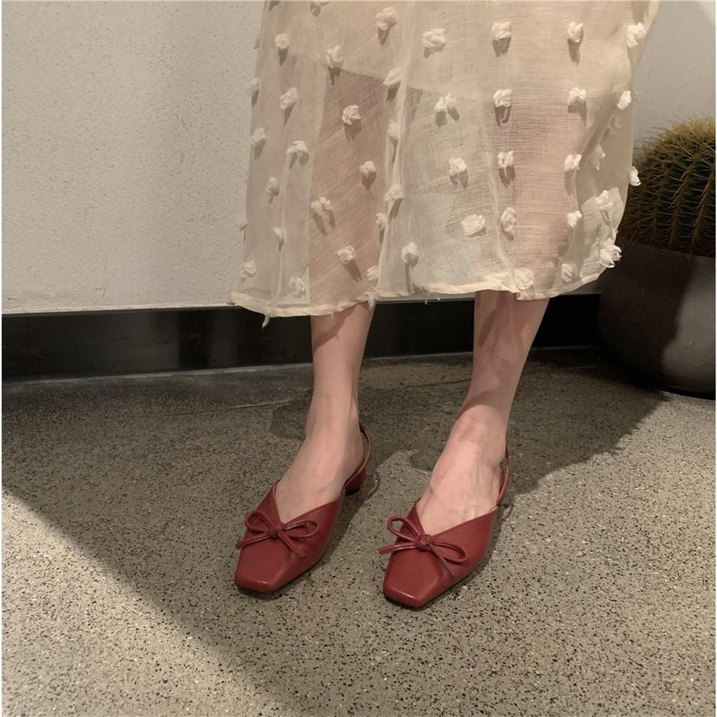 (Sẵn) Giày bệt quai tiểu thư