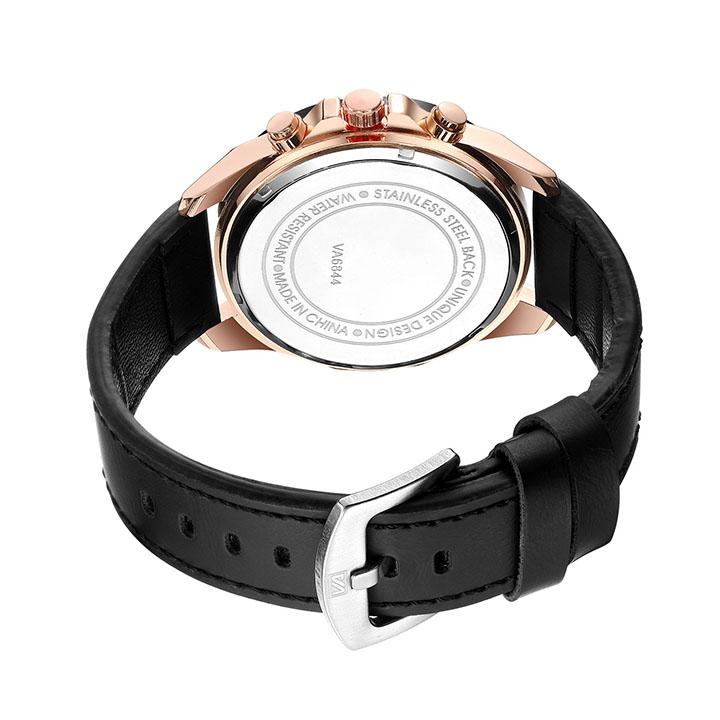 Đồng hồ thời trang nam nữ dây da đeo tay, thiết kế mặt đồng hồ tròn, đẹp mắt, hiện đại, cao cấp chất liệu thạch anh