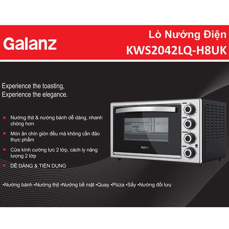Lò Nướng Đối Lưu Galanz KWS2042LQ-H8UK (42 Lít) - Hàng Chính Hãng