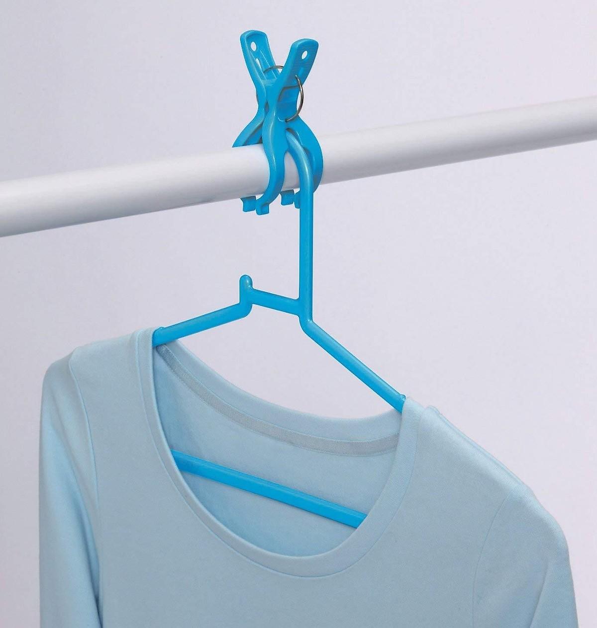 Bộ 2 kẹp ngoạm chống bay quần áo (bộ 10 cái)