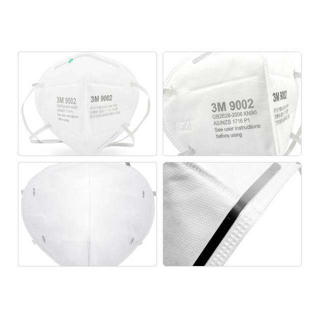 Hộp 50 chiếc khẩu trang 3M 9002 lọc bụi mịn, cản bụi, kháng khuẩn tối ưu, đeo qua đầu
