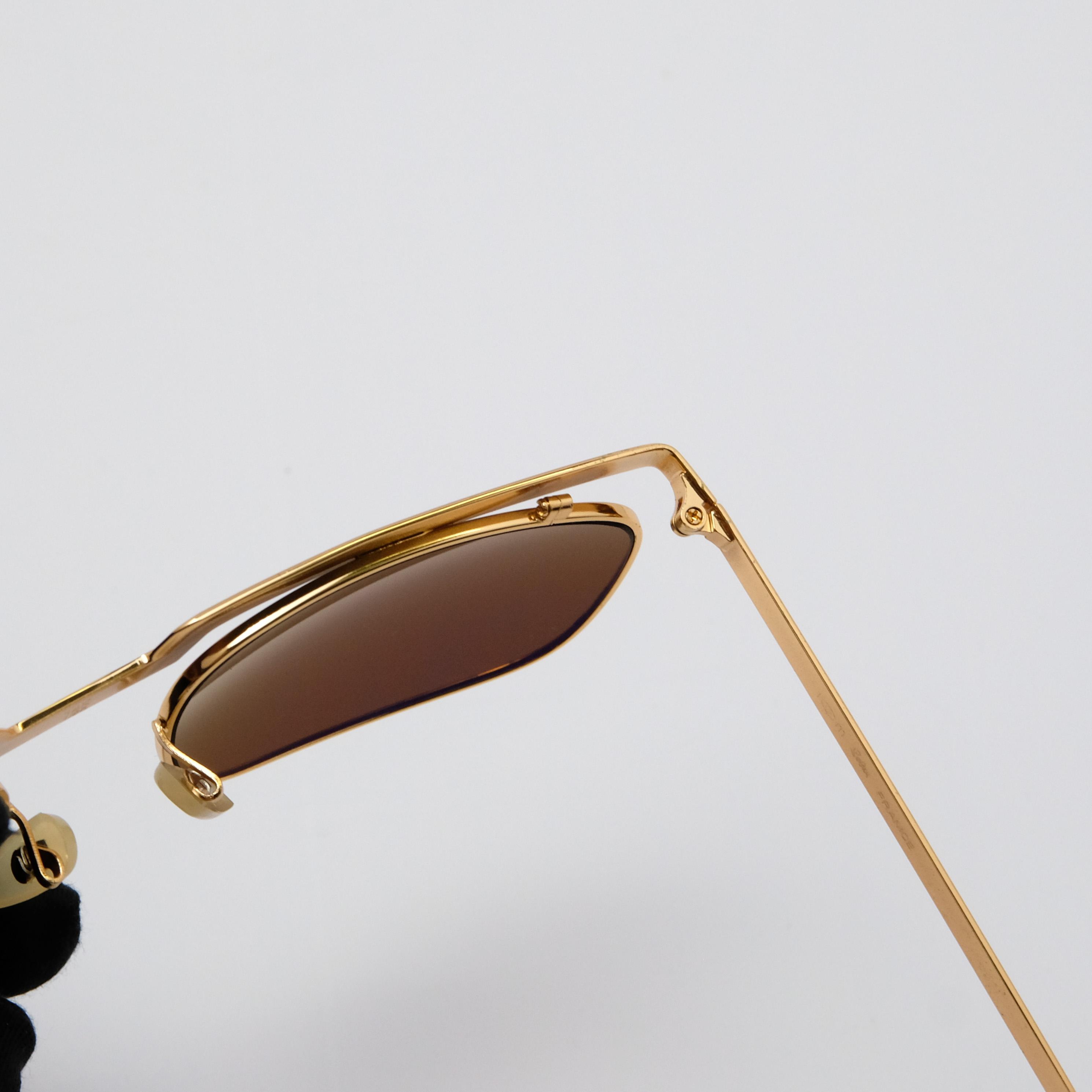 Kính solex tròng thủy tinh chữ H mắt trà
