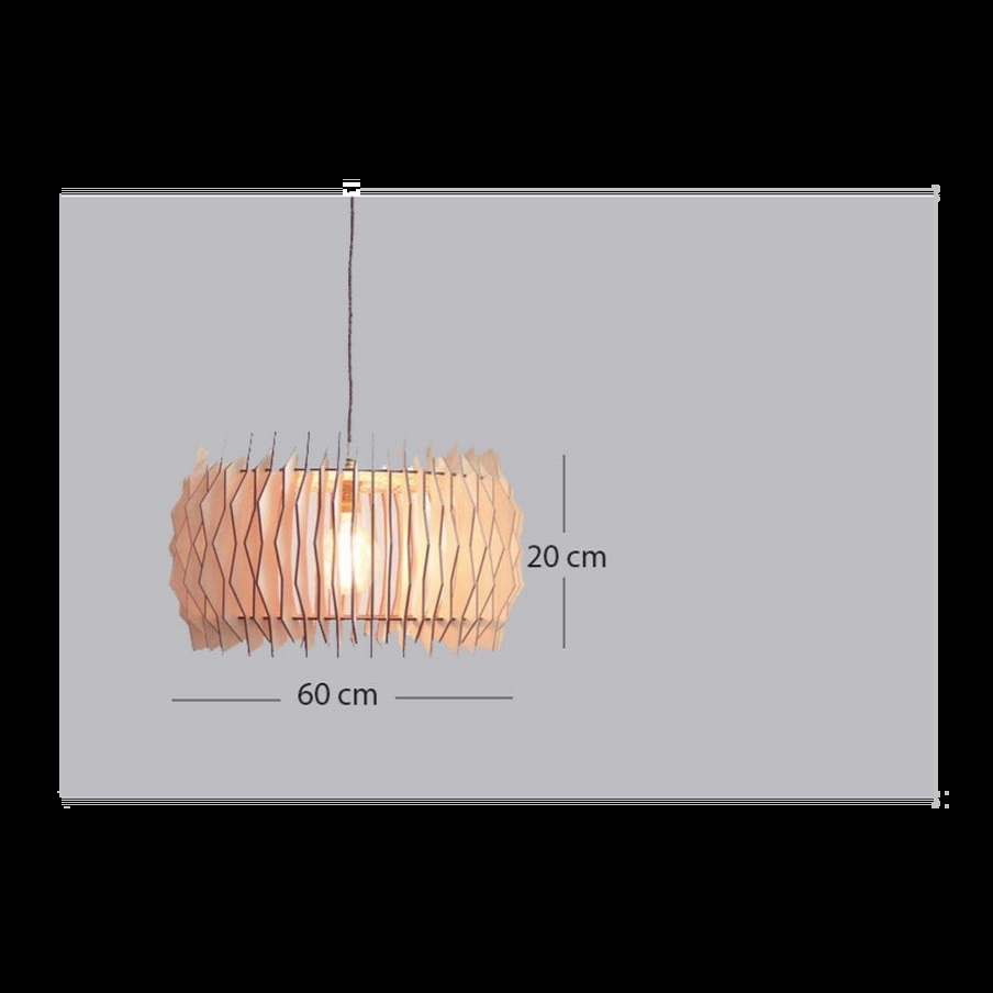 Đèn gỗ thả trần CAO CẤP hiện đại sang trọng 60x20cm chất liệu gỗ trang trí cho phòng khách nhà căn hộ decor nhà quán cafe