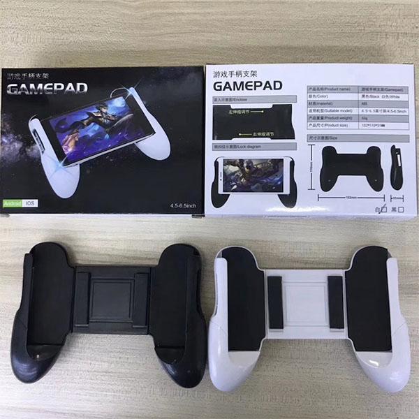 Tay Cầm Chơi Game Gamepad Hỗ Trợ Chơi Game Trên Điện Thoại Có Giá Đỡ (Trắng) - Hàng Nhập Khẩu