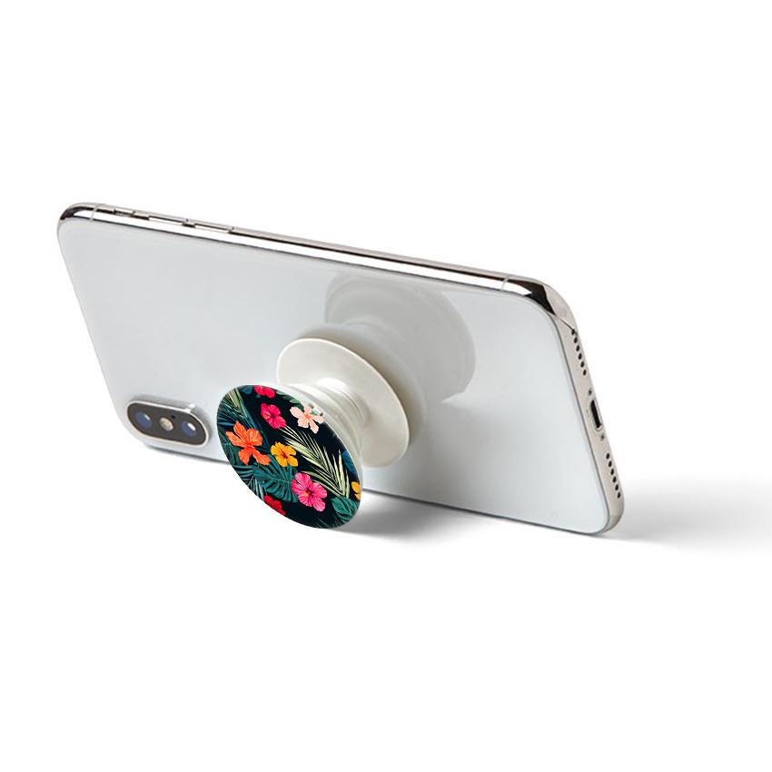 Gía đỡ điện thoại đa năng, tiện lợi - Popsockets - In hình FLOWER 07 - Hàng Chính Hãng