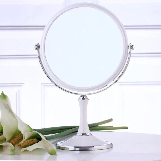 Gương Trang Điểm 2 Mặt Cỡ Lớn Xoay 360 Độ Siêu Hot