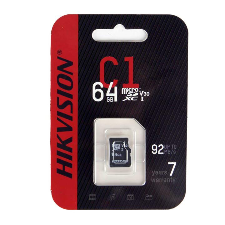 Thẻ nhớ Micro SD Hikvision/HS-TF-C1 dung lượng 64G Class 10  hàng chính hãng Nhà An Toàn