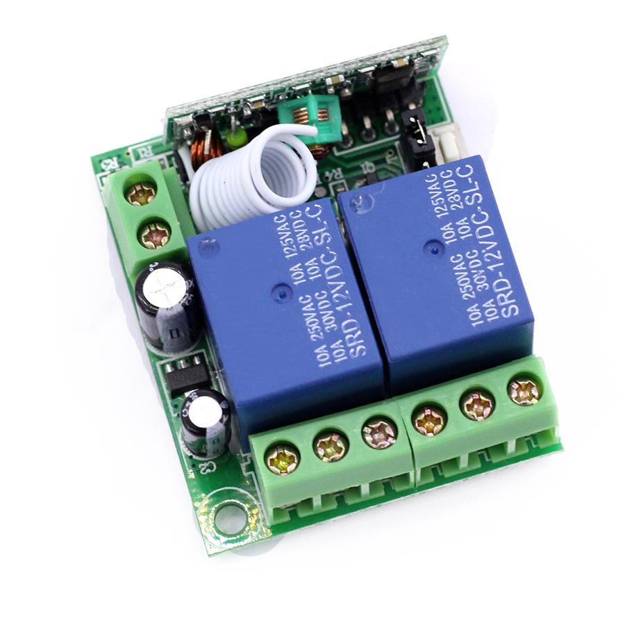 Module Học Lệnh 2 Kênh 12V RF315Mhz + Tay Phát