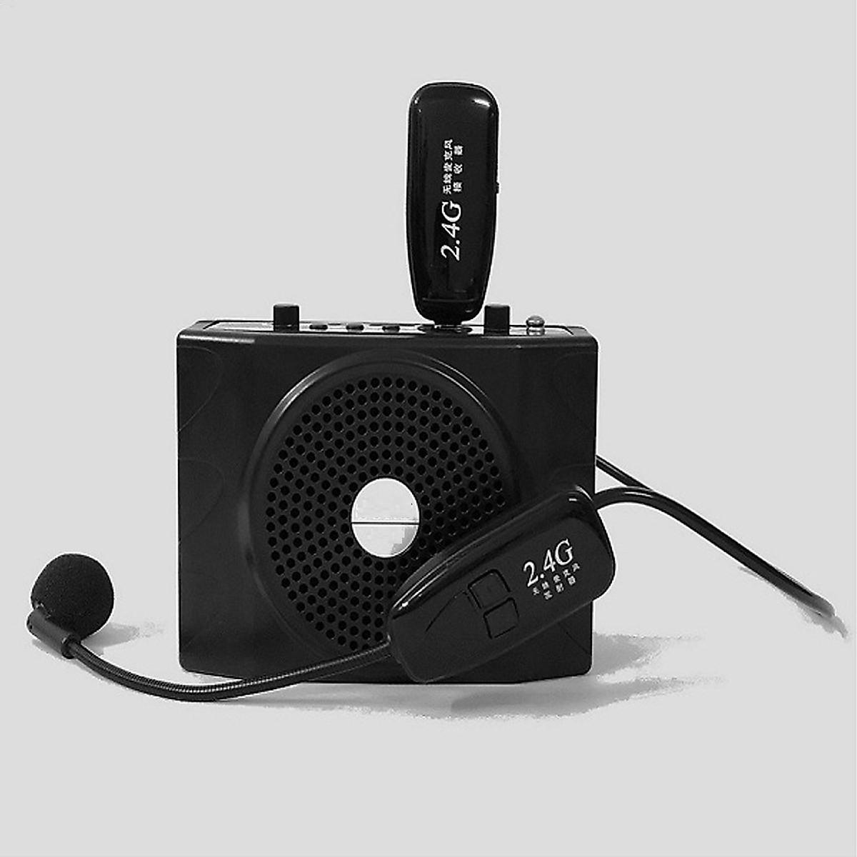 Micro không dây gài tai Wireless Kháng nước, mic live stream bán hàng online kèm Loa SN 204, Micro thu âm mini thiết kế cài áo tiện dụng, 1 Tai nghe Bluetooth Siêu Bass Có Mic Đàm Thoại Thích Hợp các cuộc họp, hội nghị và học trực tuyến trên Zoom