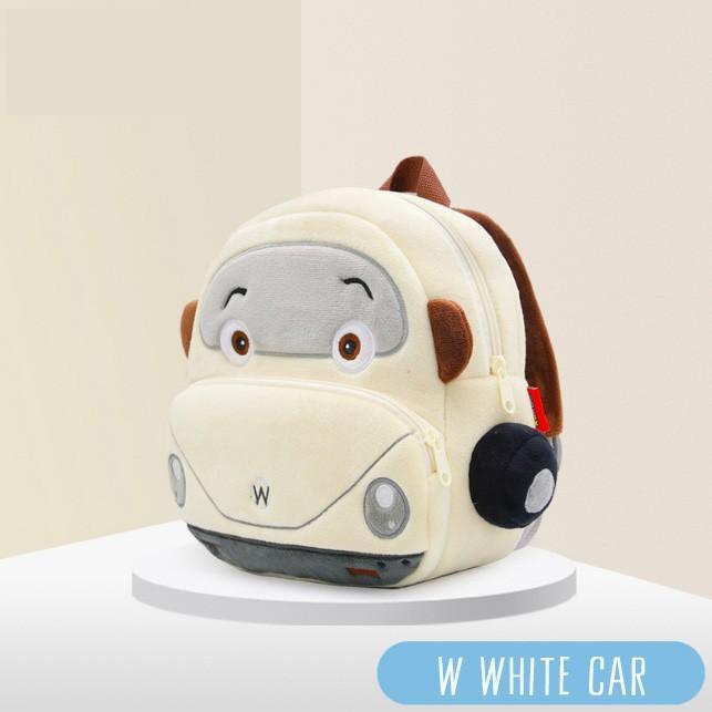 Balo cho bé đi học mẫu giáo chống gù siêu nhẹ unisex in hình xe ô tô siêu đáng yêu chất nỉ mềm mại