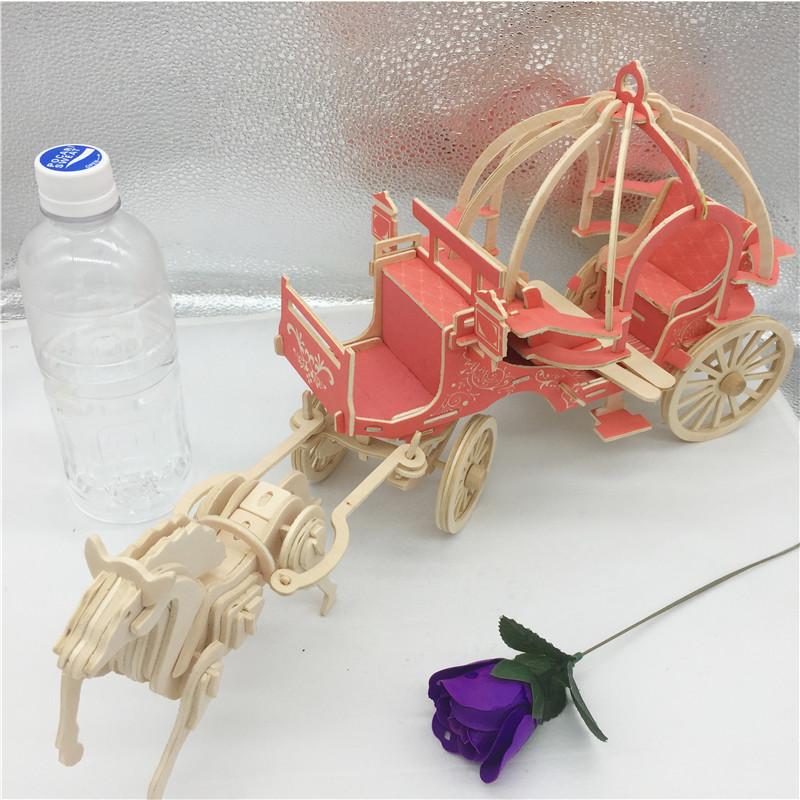 Đồ chơi lắp ráp gỗ 3D Mô hình Xe Ngựa Wedding Carriage