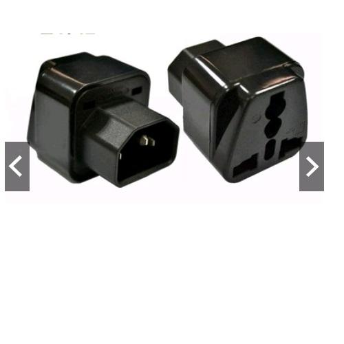 Bộ 2 cái đầu chuyển C13 IEC320 C14 Chuyển Đầu Cắm UPS PDU Sang Ổ Điện 2 Hoặc 3 Chấu 10 màu đen - hàng nhập khẩu