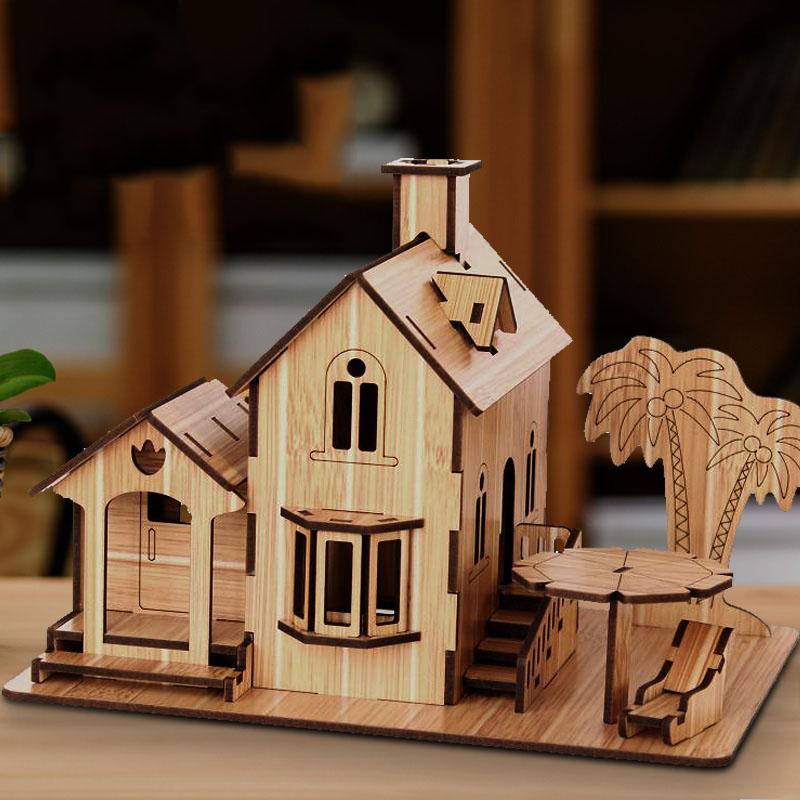 Đồ chơi lắp ráp gỗ 3D Mô hình Seaside Villa R-8073