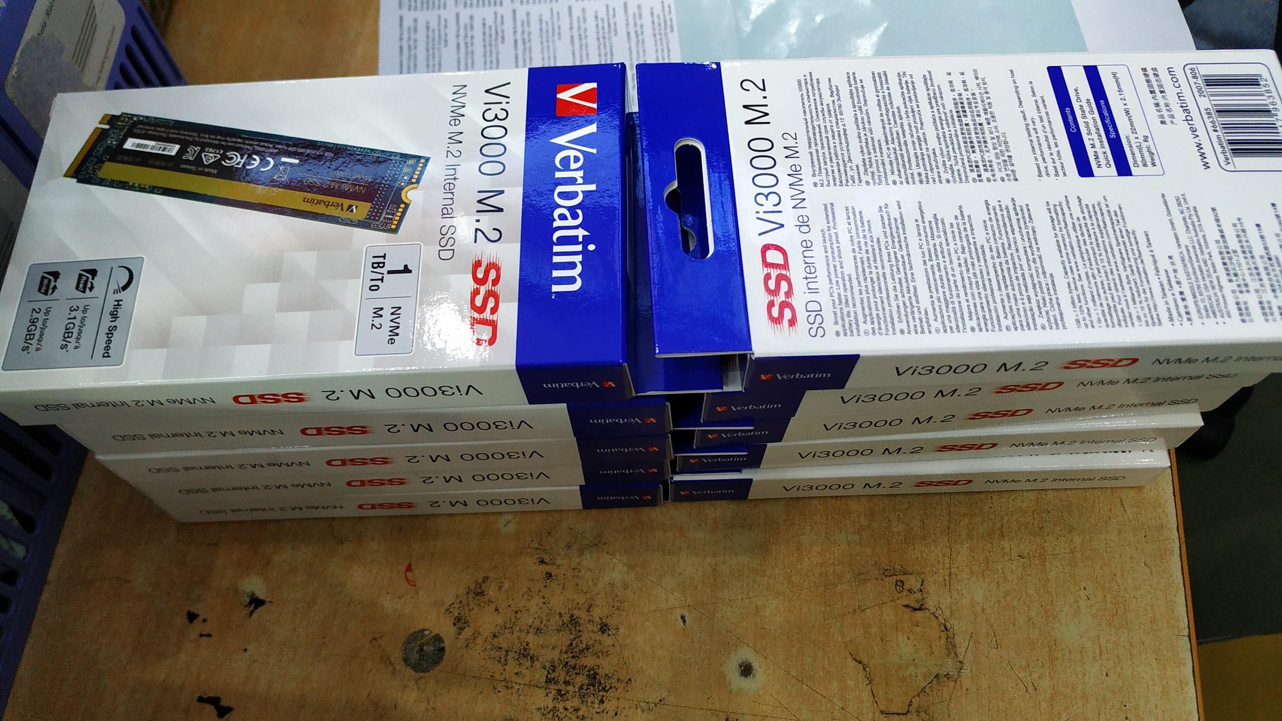 Ổ cứng Verbatim SSD NVMe M.2 1TB (Vi3000)- Hàng chính hãng