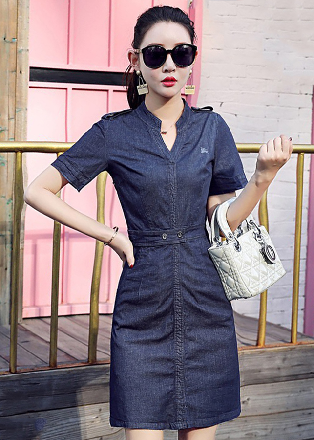Đầm Suông Jean Hàn Quốc D4038 Size XL