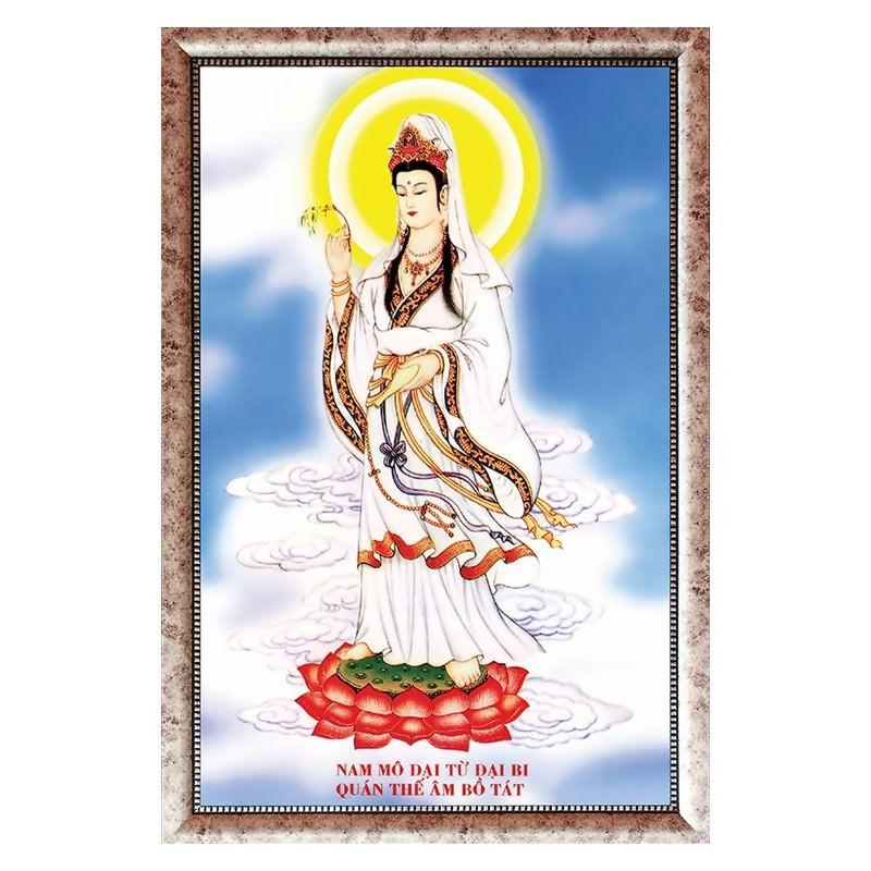 Tranh Phật Giáo Quan Thế Âm Bồ Tát 0147