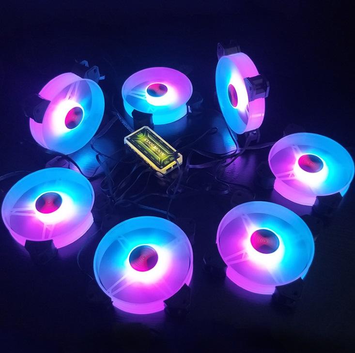 Bộ 1 Quạt + Hub Khiển Coolmoon X RGB - Hàng nhập khẩu