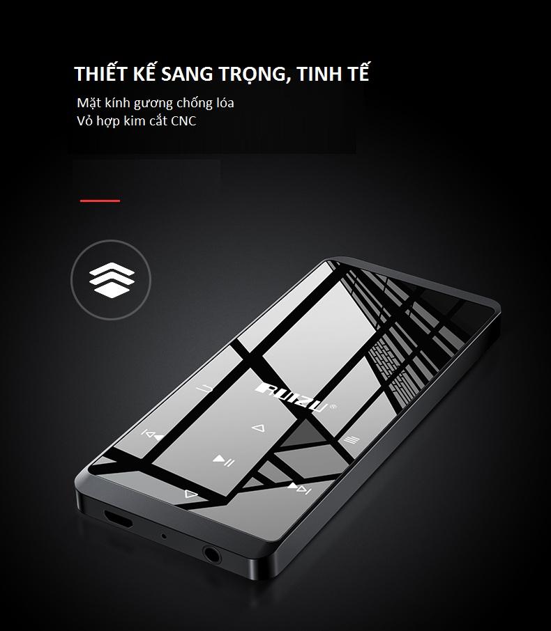 Máy Nghe Nhạc Bluetooth Lossless RUIZU D02 Bộ Nhớ Trong 8GB - Hàng Nhập Khẩu - Màu Ngẫu Nhiên