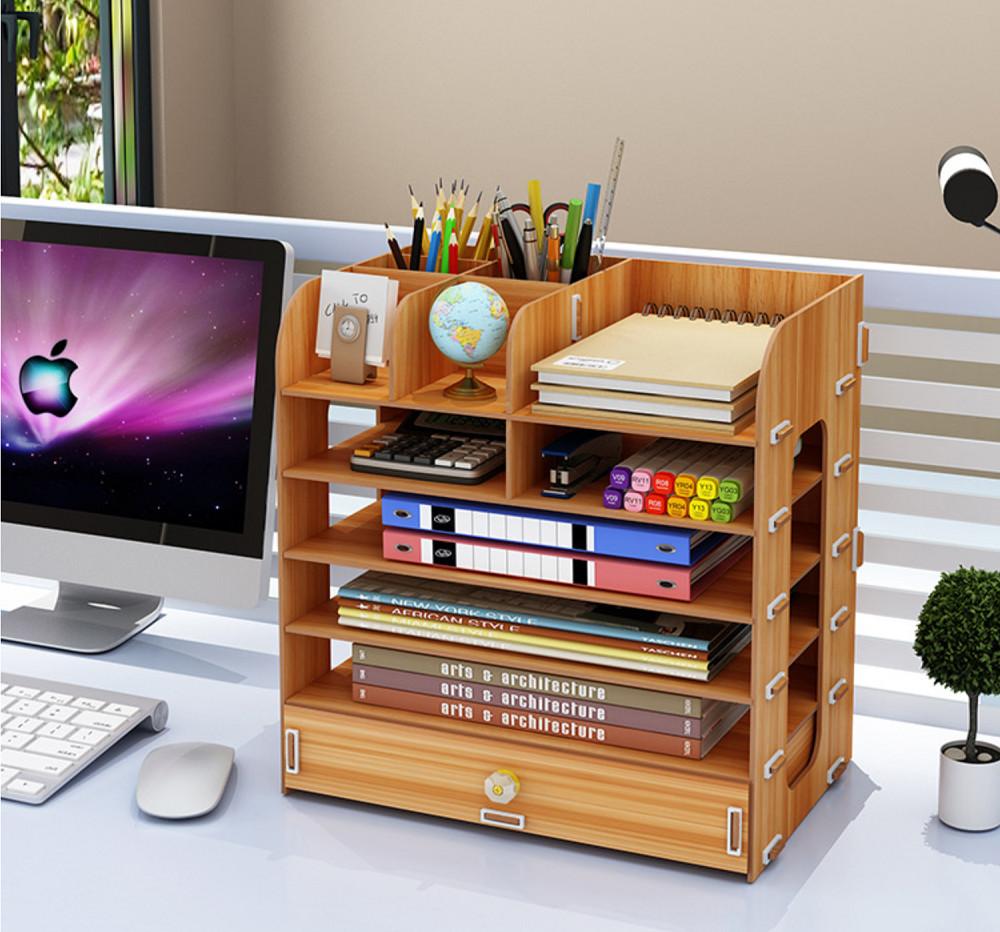 Kệ để đồ văn phòng gỗ nhiều ngăn (VP-01)