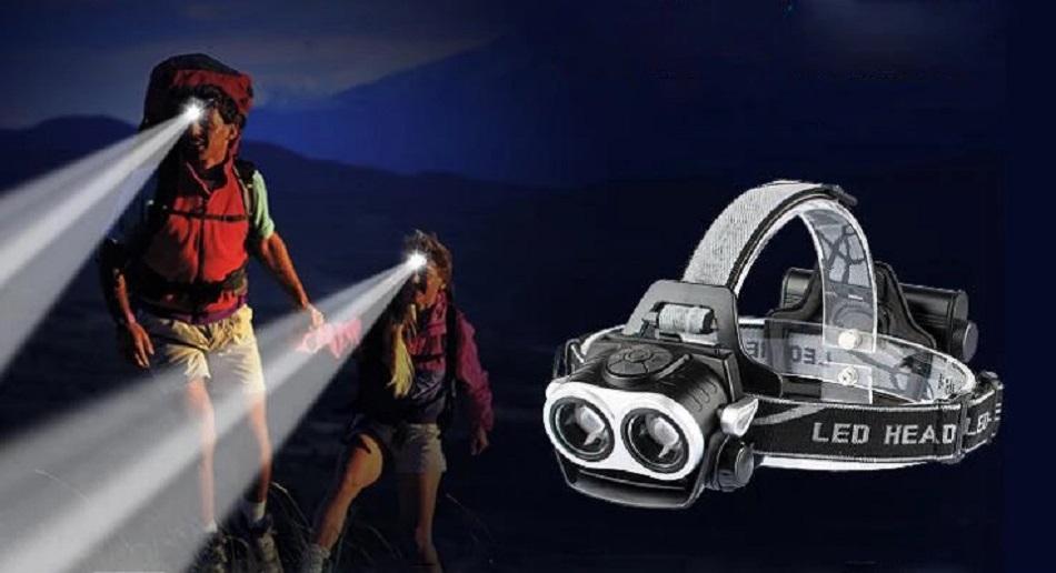 Đèn pin sạc đội đầu siêu sáng K77A (chống nước)