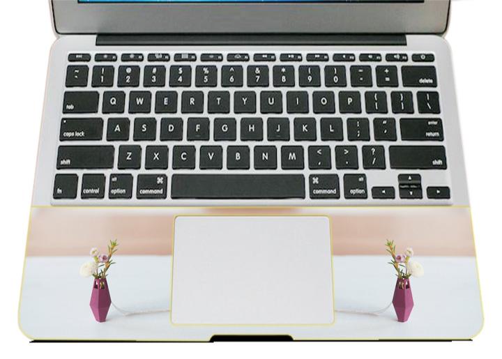 Miếng Dán Trang Trí Mặt Ngoài + Lót Tay Laptop Hoa Văn LTHV - 374
