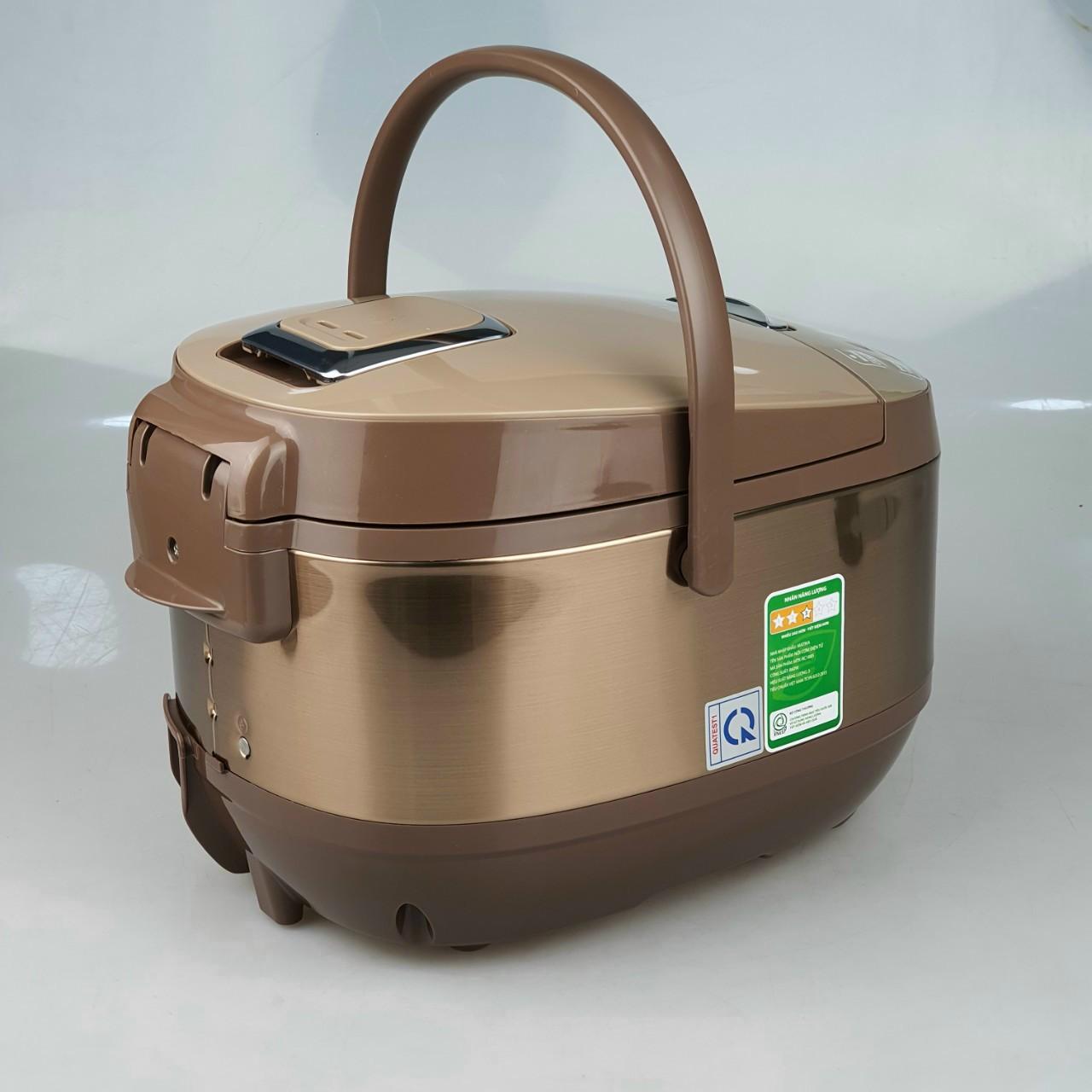 Nồi cơm điện tử đa chức năng nấu 1.8Lit nấu tầm 5 lon gạo RC1885 Matika có chức năng ủ 3D-hàng chính hãng