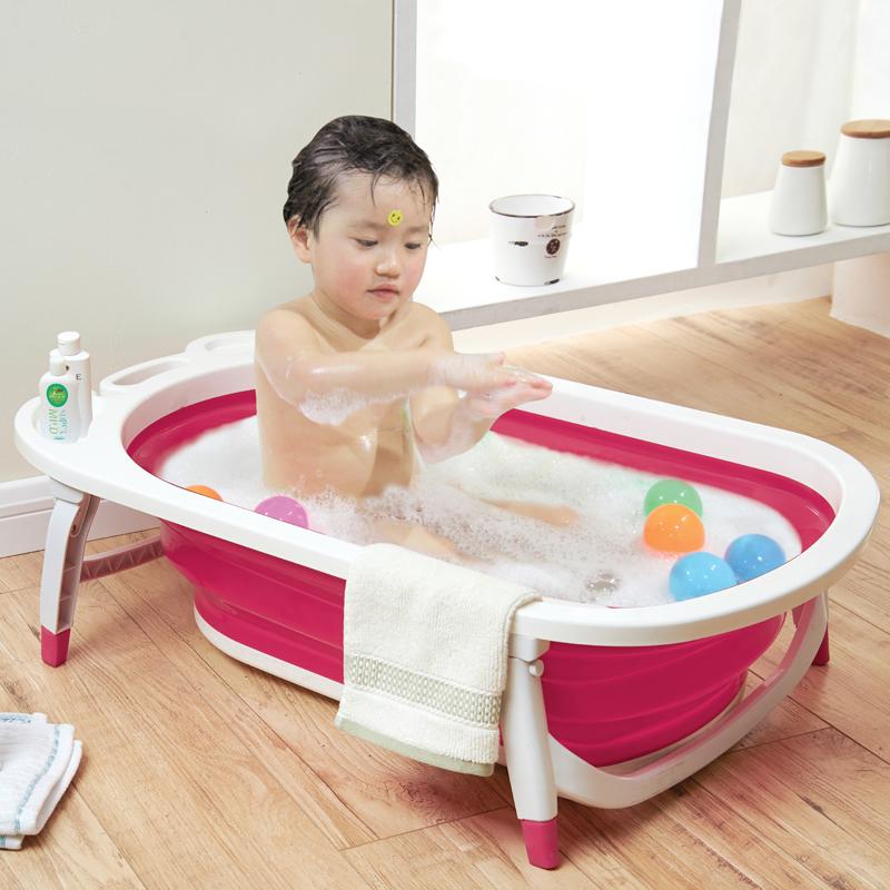 Chậu tắm gấp gọn cho bé tiện dụng tiết kiệm không gian