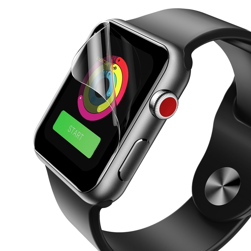 Bộ 2 miếng dán màn hình silicon chống trầy cho Apple Watch 42mm hiệu Rock Hydrogel (chống trầy, chống bụi, chống thấm, độ trong tuyệt đối) - Hàng chính hãng
