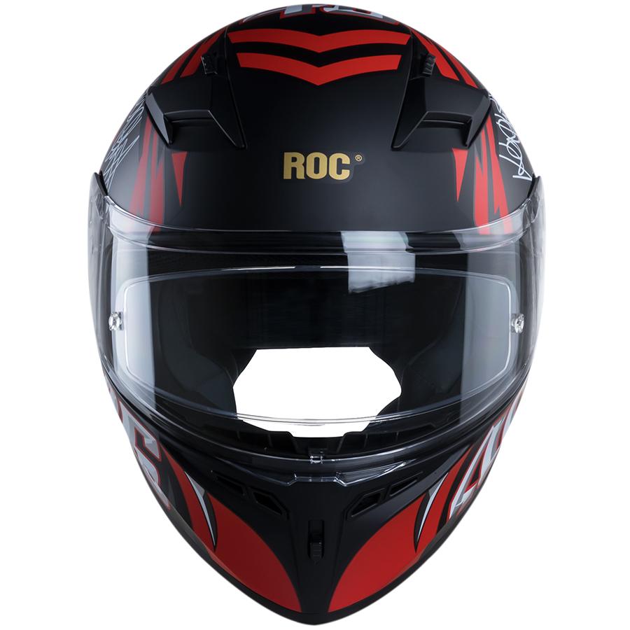 Nón bảo hiểm nguyên đầu (Fullface) ROC R01 V3 - 1M Đỏ Mờ