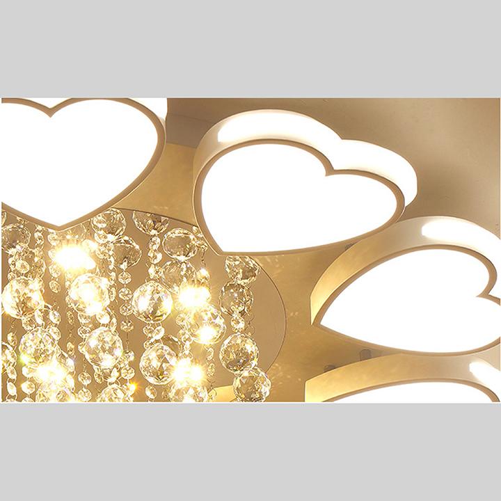 Đèn chùm pha lê phòng khách, đèn mâm ốp trần trang trí - OPLADY0310