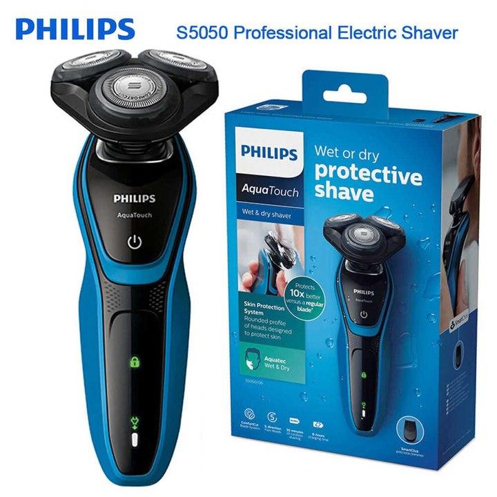 Máy cạo râu khô và ướt Philips  AquaTouch S5050 - Hàng chính hãng