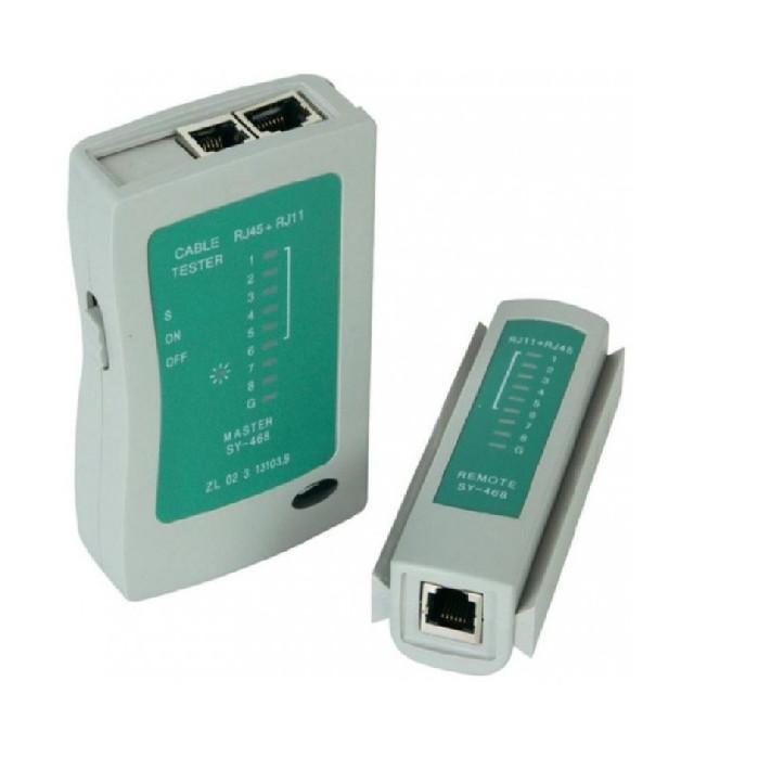 Máy test cáp mạng , điện thoại cao cấp (Tặng kèm pin)