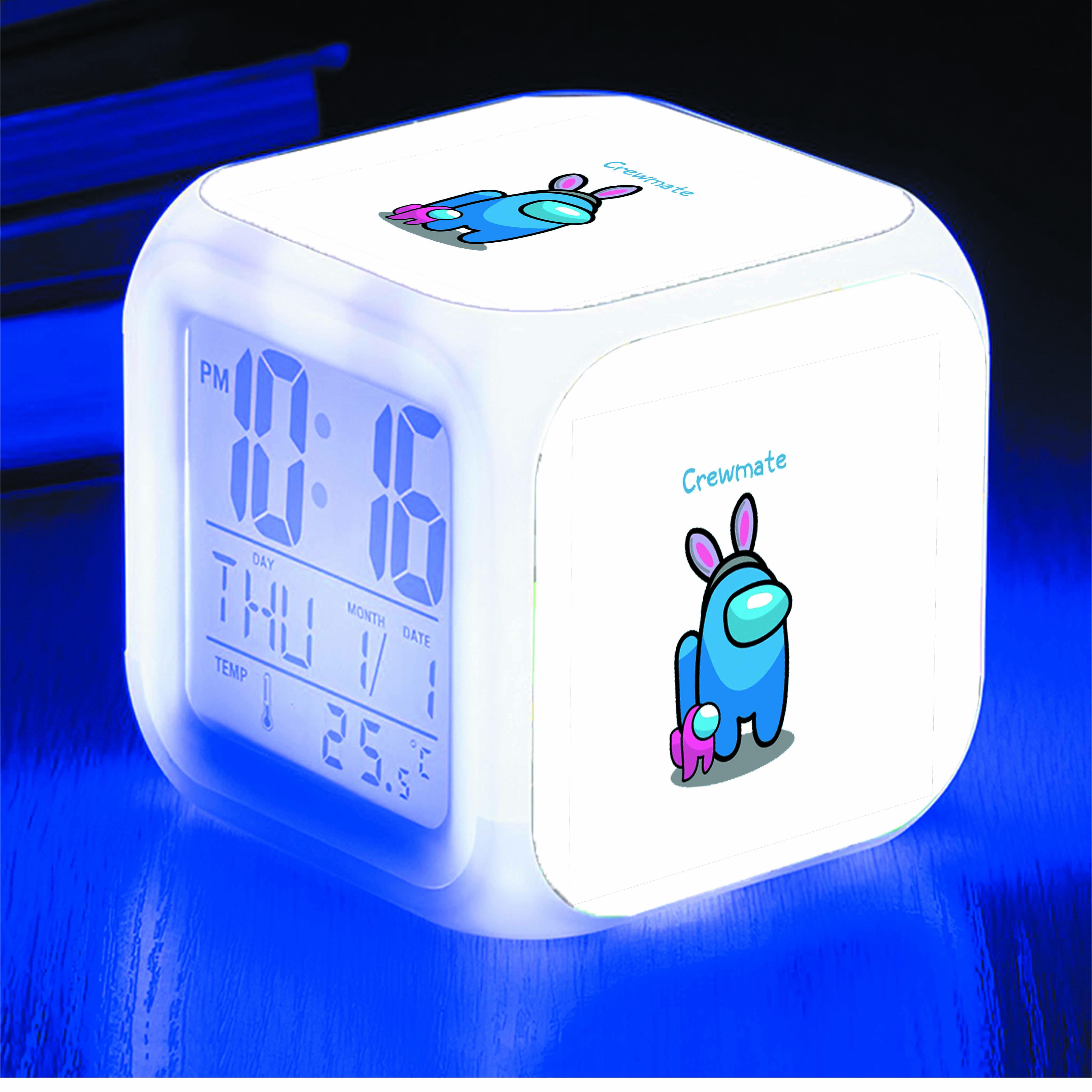 Đồng hồ báo thức để bàn IN HÌNH Among Us con thỏ