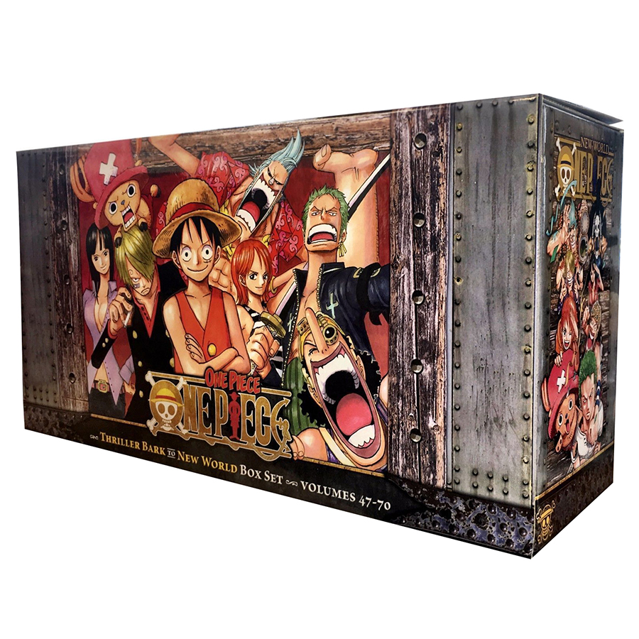 One Piece Box Set 3: Thriller Bark To New World, Volumes 47-70 With Premium - Tiếng Anh