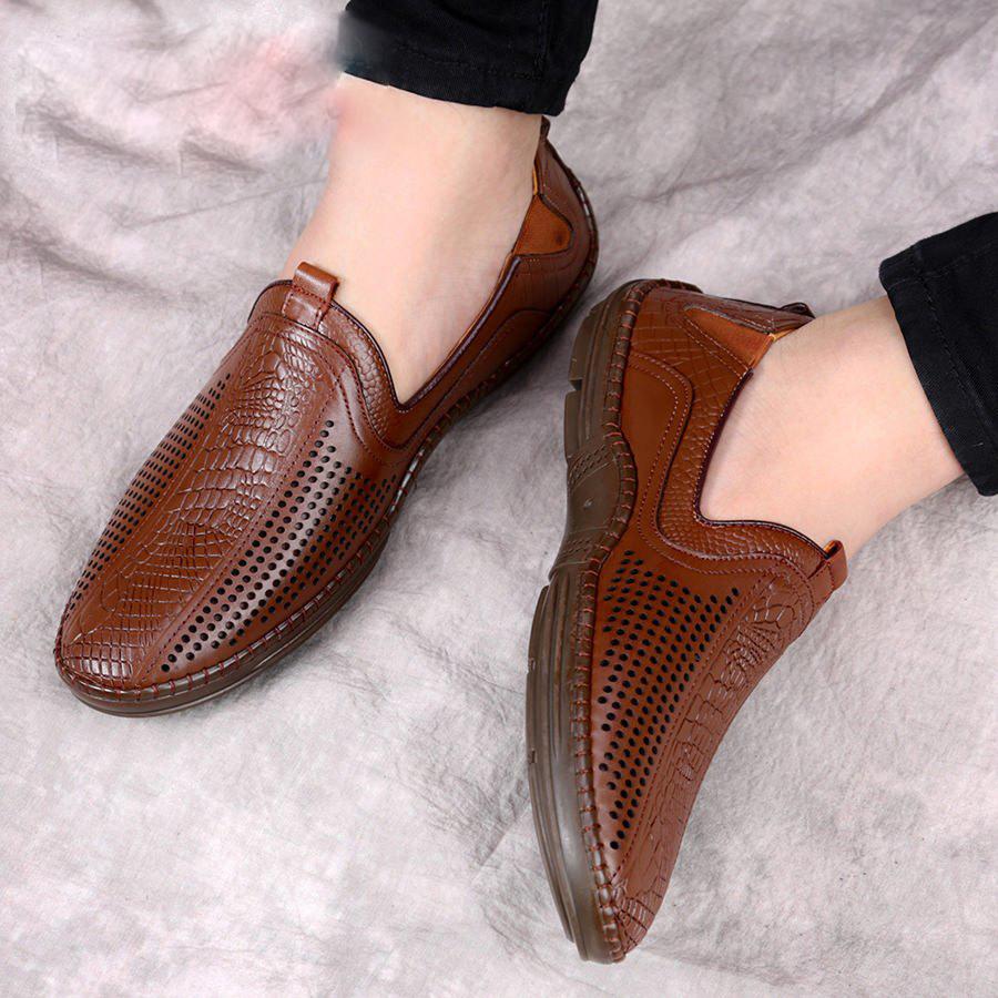 Giày lười cao cấp, giày nam đẹp, giày da cao cấp Udany_ GLN016