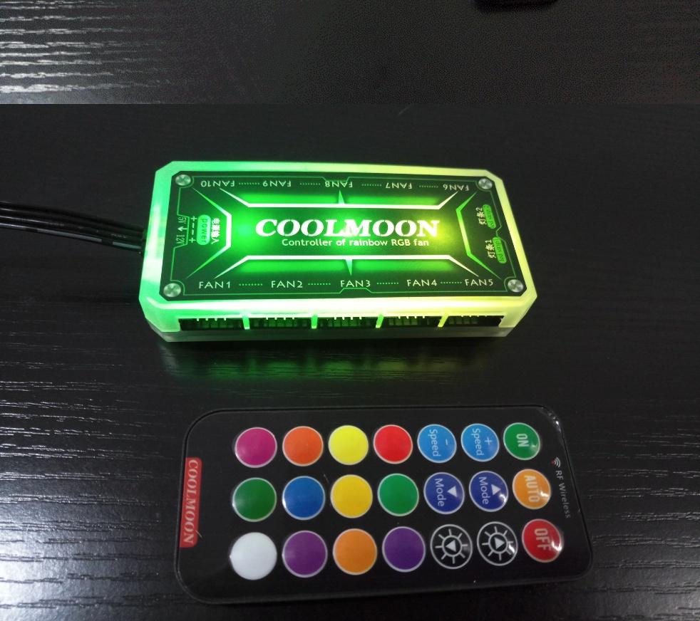 Bộ hub quạt tản nhiệt Coolmoon RGB - Hàng nhập khẩu
