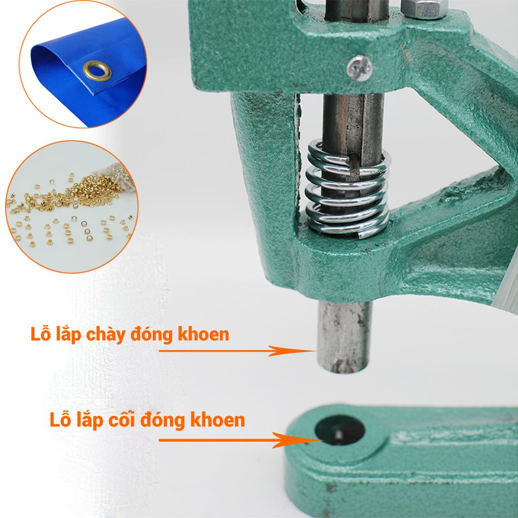 Máy đóng khoen bạt bằng tay Kèm khuôn máy đóng khoen kích thước tùy chọn